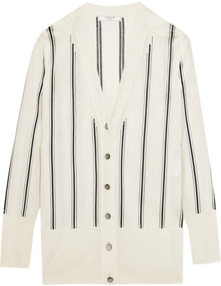 Lanvin - Striped Knitted Cardigan - Ivory $1,385 thestylecure.com
