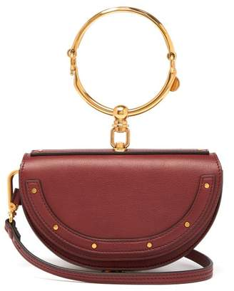 Chloé Nile Minaudiere Small Leather Clutch - Womens - Burgundy