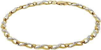 Revere 9ct Gold Diamond Accent Twist Bracelet