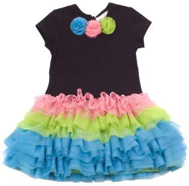 Rare Editions Baby-girls Infant Neon Tutu Dress