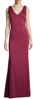Nicole Miller Sleeveless V-Neck Slim Gown