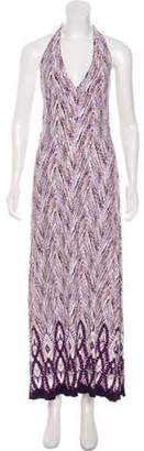 Anna Sui Halter Maxi Dress White Halter Maxi Dress