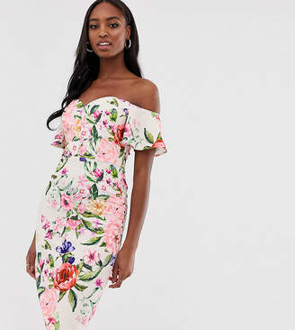 Paper Dolls Tall midi pencil dress in floral print