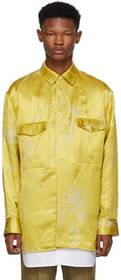 Haider Ackermann Gold and White Double Layer Shirt