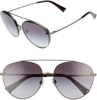 Valentino 58mm Gradient Aviator Sunglasses