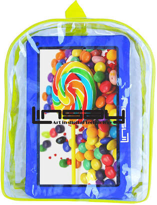 LINSAY New 10.1 Kids Funny Tab Quad Core 1024x600 HD 16GB Android 6.0 with Blue Kids Defender Case and Kids Bag Pack
