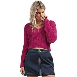 Volcom Junior's Clued 2 You V Neck Pullover Sweater