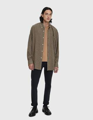 Our Legacy Borrowed Button Down Shirt in Brown Recycled Gingham