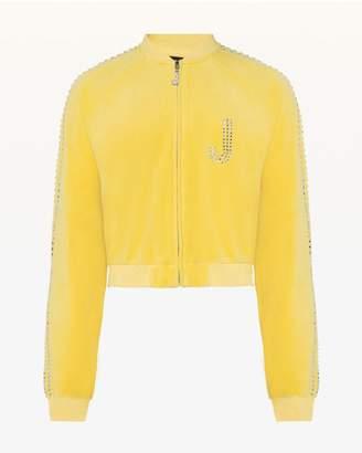 03e758129367 Juicy Couture Swarovski Embellished Velour Crop Jacket