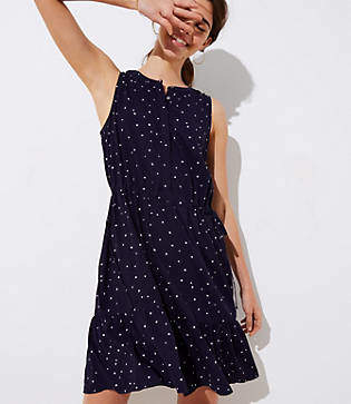 LOFT Star Drawstring Dress