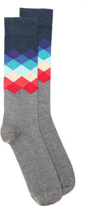 Happy Socks Zig Zag Crew Socks - Men's