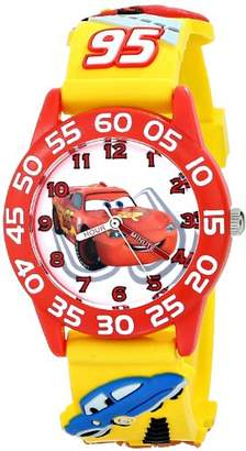 "Disney Kids' W001509 ""Time Teacher"" 3D Cars Watch with Plastic Band"