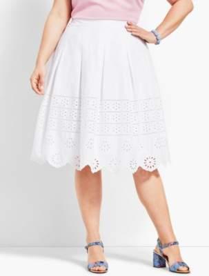Talbots Eyelet Pleated Skirt