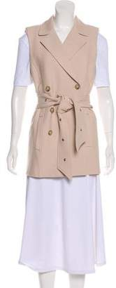 Veronica Beard Belted Double-Breasted Vest w/ Tags