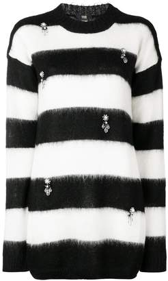Class Roberto Cavalli (クラス ロベルト カヴァリ) - Cavalli Class striped embellished jumper