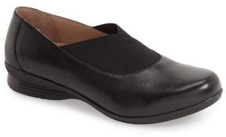Dansko Ann Leather Round Toe Flat