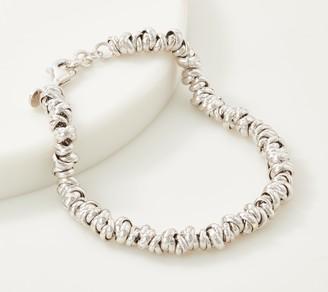 """Italian Silver Love Knot Link 6-3/4"""" Bracelet, 8.2g"""