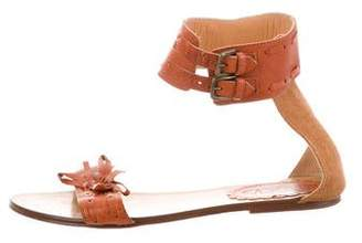 RED Valentino Leather Buckle Sandals