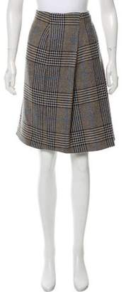 Burberry Plaid Wool Skirt