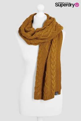 Next Womens Superdry Arizona Cable Scarf