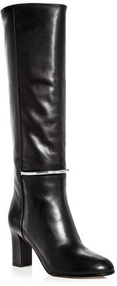 Via Spiga Women's Shaw Leather Tall High Heel Boots