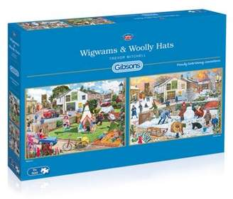 Gibson Wigwams And Woolly Hats - 2 X 500Pc Puzzle