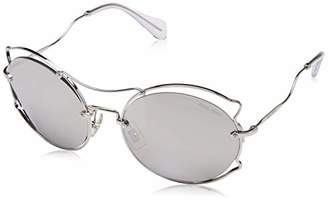 72675f7bed2 Miu Miu Silver Sunglasses For Women - ShopStyle UK
