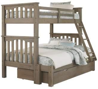 Hillsdale Furniture Highlands Harper Bunk Bed with Trundle Driftwood