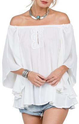 Women's Volcom Red Eye Off The Shoulder Top $49.50 thestylecure.com