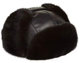 Zilli Leather Aviator Hat