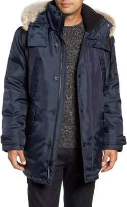 Andrew Marc Lafayette Genuine Fur Trim Hooded Parka