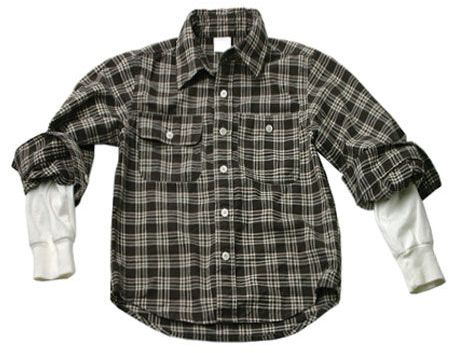 Wes & willy 4-7 flannel 2-fer shirt