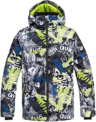 Quiksilver Mission Print Insulated Waterproof Hooded Jacket