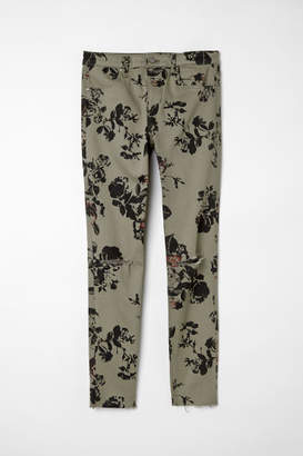 H&M Skinny Regular Ripped Jeans - Green