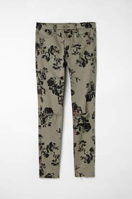 H&M Skinny Regular Ripped Jeans - Green