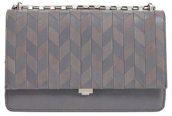 MICHAEL Michael KorsMichael Kors Medium Yasmeen Chevron Leather Clutch - Grey