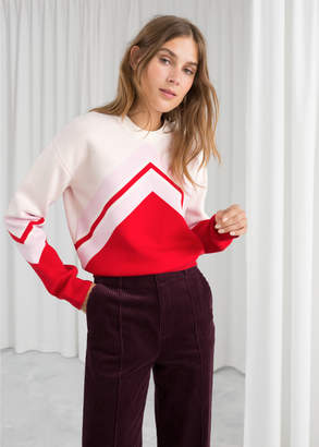 And other stories Varsity Knit Sweater
