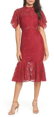 EVER NEW Floral Lace Sheath Dress