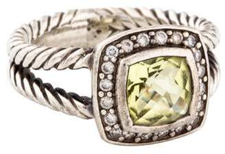 David Yurman Lemon Quartz & Diamond Albion Ring