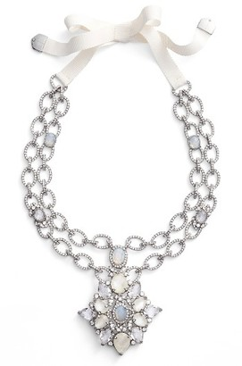 Women's Jenny Packham Mother Of Pearl & Crystal Pendant Necklace $275 thestylecure.com