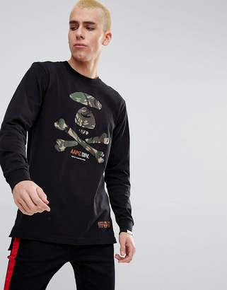 A Bathing Ape AAPE BY AAPE By Longline Long Sleeve T-Shirt With Large Camo Logo