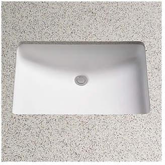 Toto Augusta Vitreous China Rectangular Undermount Bathroom Sink with Overflow Sink