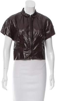Miu Miu Leather Short Sleeve Jacket