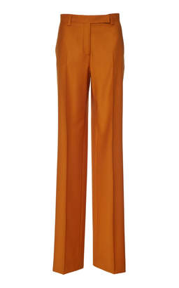 Salvatore Ferragamo Worsted Wool-Blend Tailored Pant