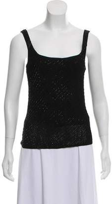 Ralph Lauren Black Label Sleeveless Embellished Top