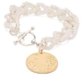 Alighieri - La Collisione Gold Plated Coin Bracelet - Womens - Gold