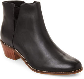 Cole Haan Black Abbot Leather Ankle Booties
