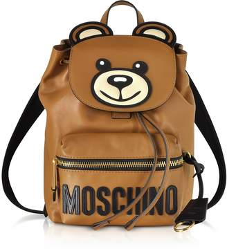Moschino Brown Leather Teddy Bear Backpack