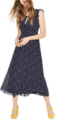 Boden Laura Ruffle Midi Dress