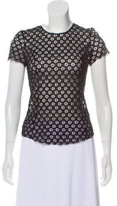 Nina Ricci Lace Short Sleeve Top